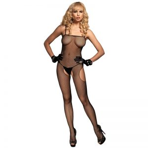 Leg Avenue Fishnet Suspender With Open Sides And Crotch
