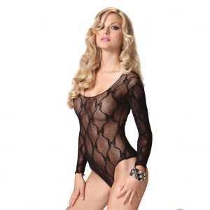 Leg Avenue Bow Lace Teddy UK 8 to 14