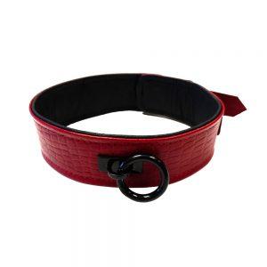 Rouge Garments Leather Croc Print Collar
